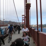 Jogging on the bridge