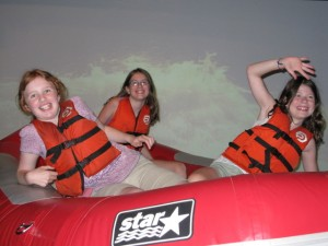 Virtual rafting, with Emma from Bristol