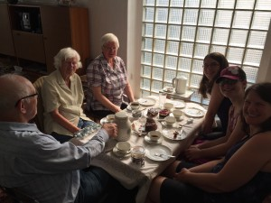 Coffee and cake with Mike's family in Germany