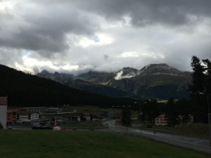 The view of the mountains from Pontresina
