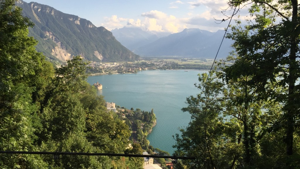 The Territet to Glion funicular is the oldest in the world, built in 1883. We rode up and had dinner with a view of the lake from above
