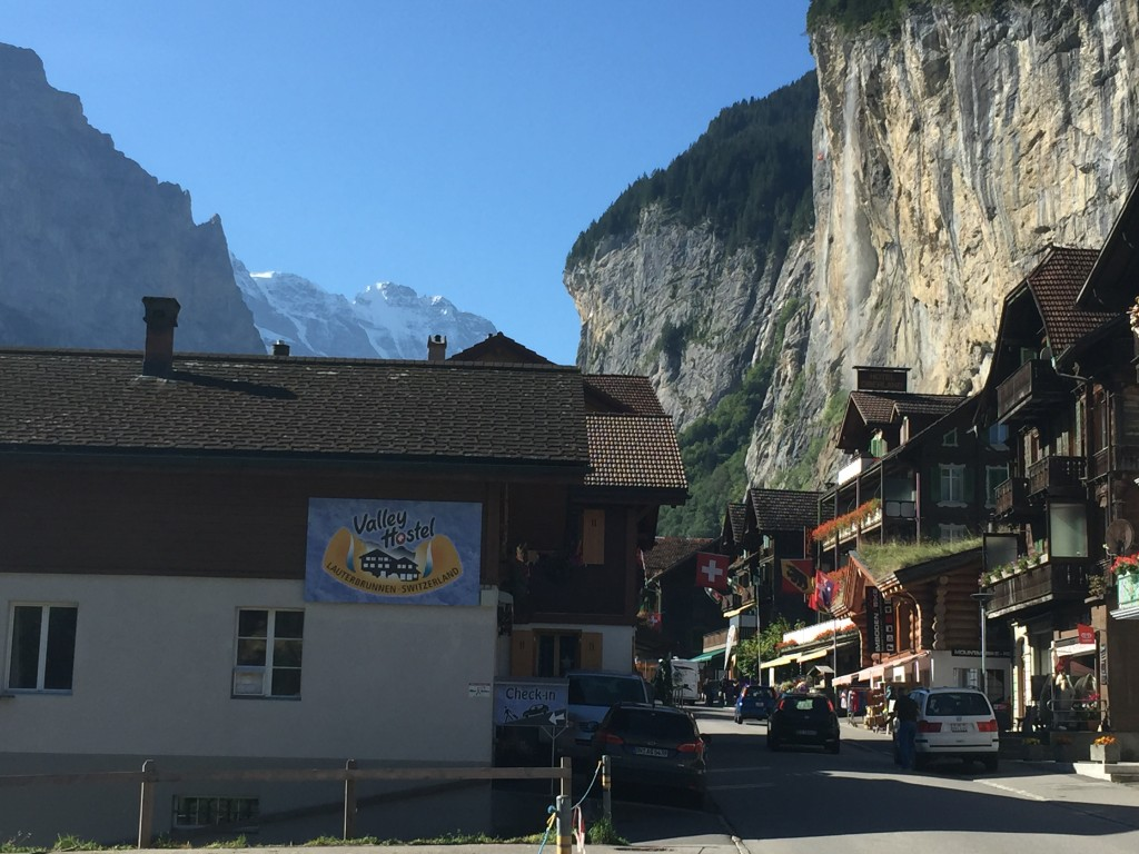 The Valley Hostel and Lauterbrunnen; both highly recommended