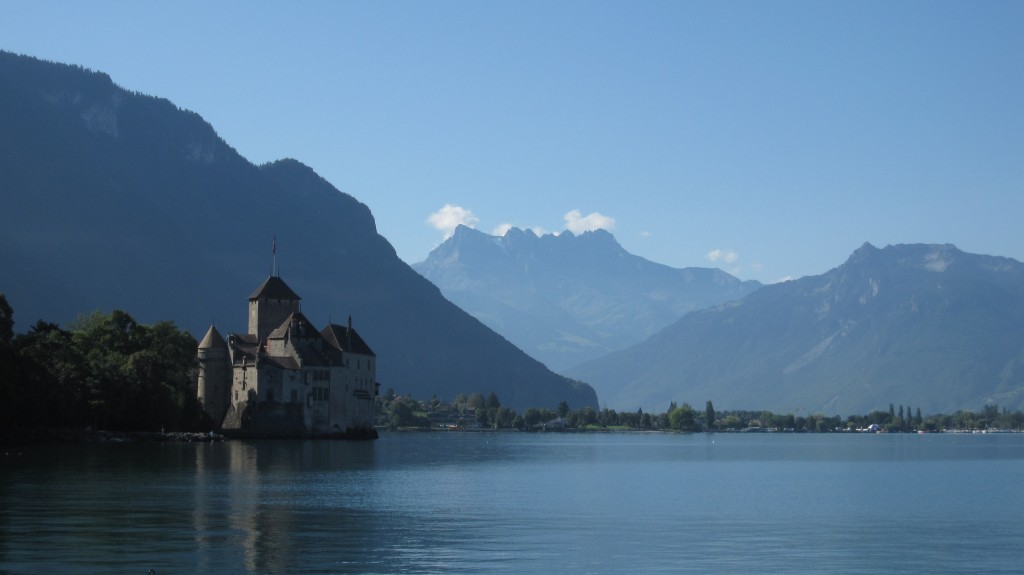 The Château de Chillon on a lovely, calm morning in Montreux