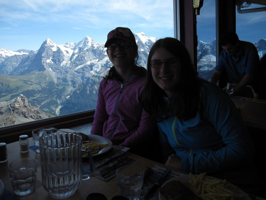 A splurge: lunch at the revolving restaurant at the top of the Schilthorn