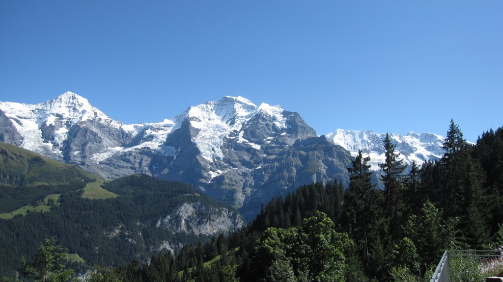 A great view of the Jungfrau mountain. If you look very closely in between these two peaks you can spot the Jungfraujoch train station, the highest train station in Europe (and quite possibly the most expensive to reach)