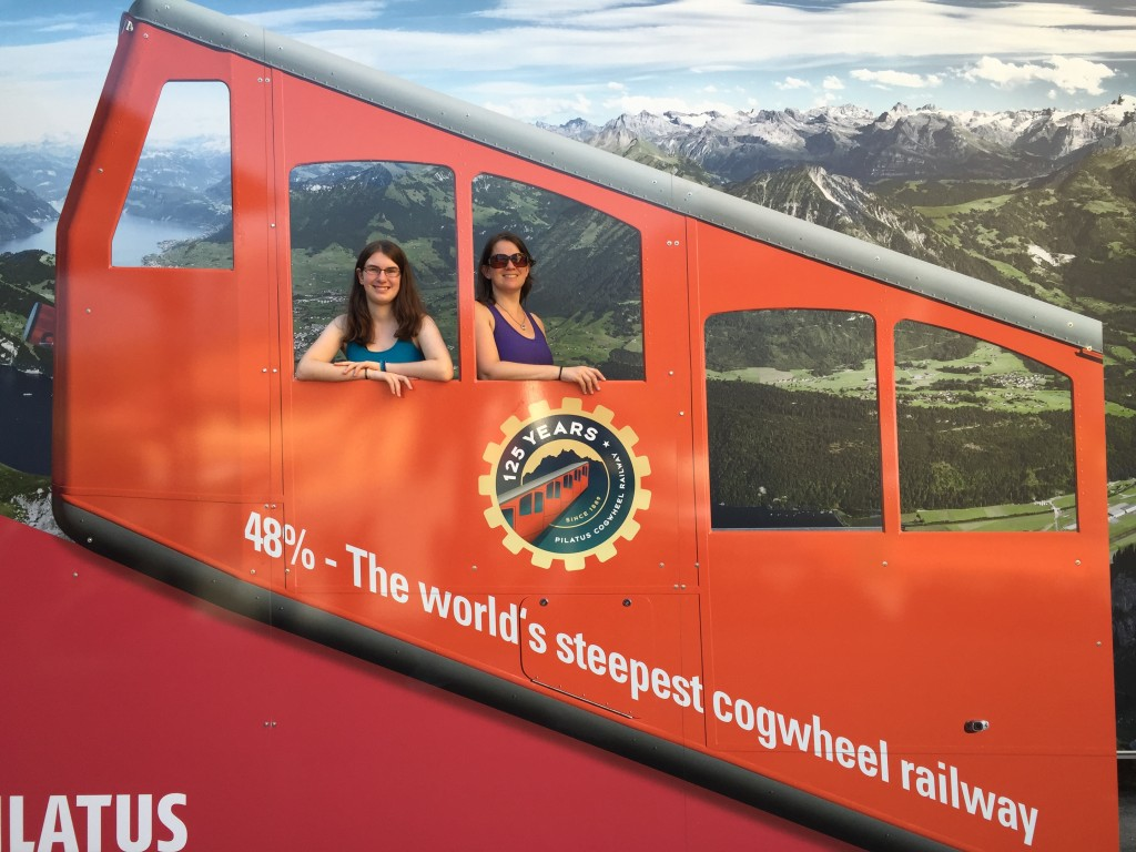 photo façade for the Mount Pilatus cogwheel railway, the steepest in the world