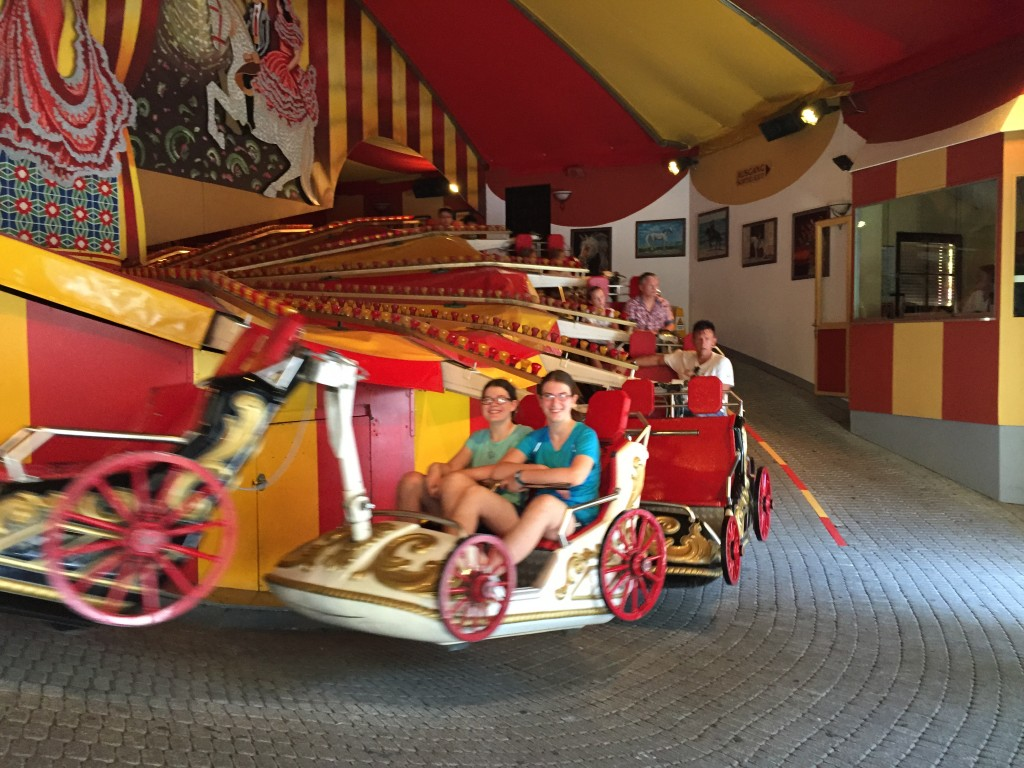 Riding on the Spanish chariot swingers