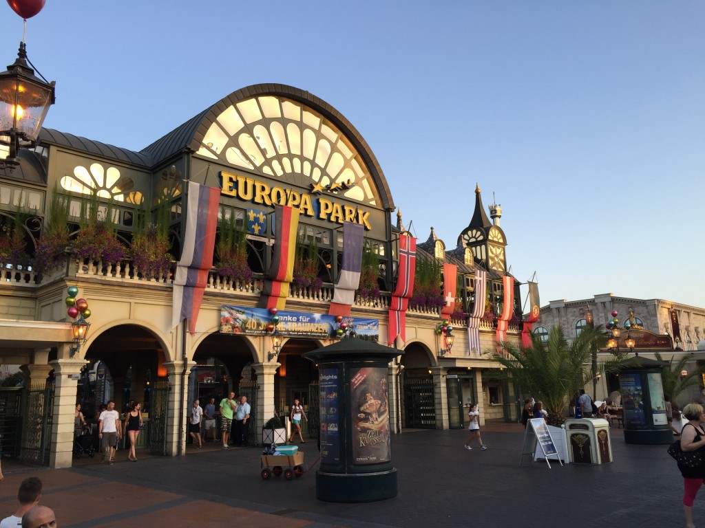 The EuropaPark entrance area