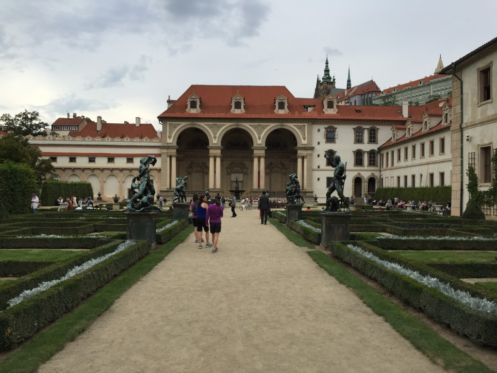 Walking through the Prague senate and senate gardens